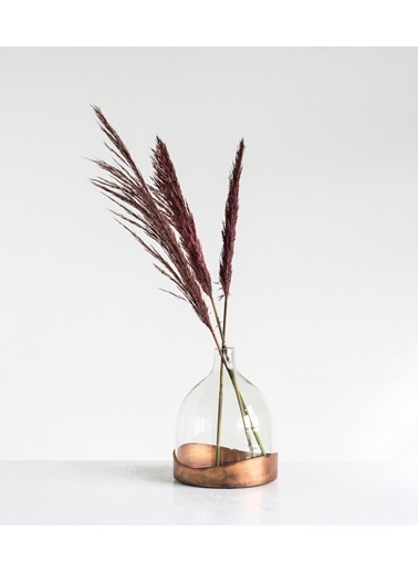 Warm Design Dekoratif Cam Çiçeklik & Vazo Renkli